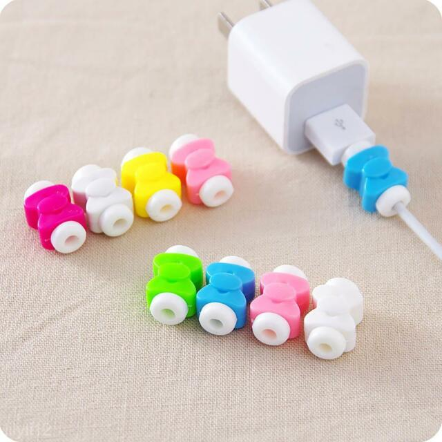 10Pcs Lightning USB Charger Cable Cord Protector Saver Cover For Apple iPhone