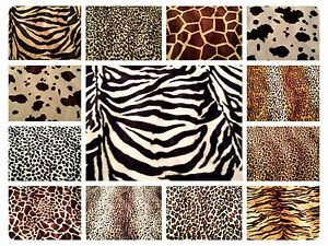 ANIMAL PRINT VELBOA FAUX FUR VELOUR FABRIC MATERIAL - SOLD BY 1 2 ... 4e0f98889d21