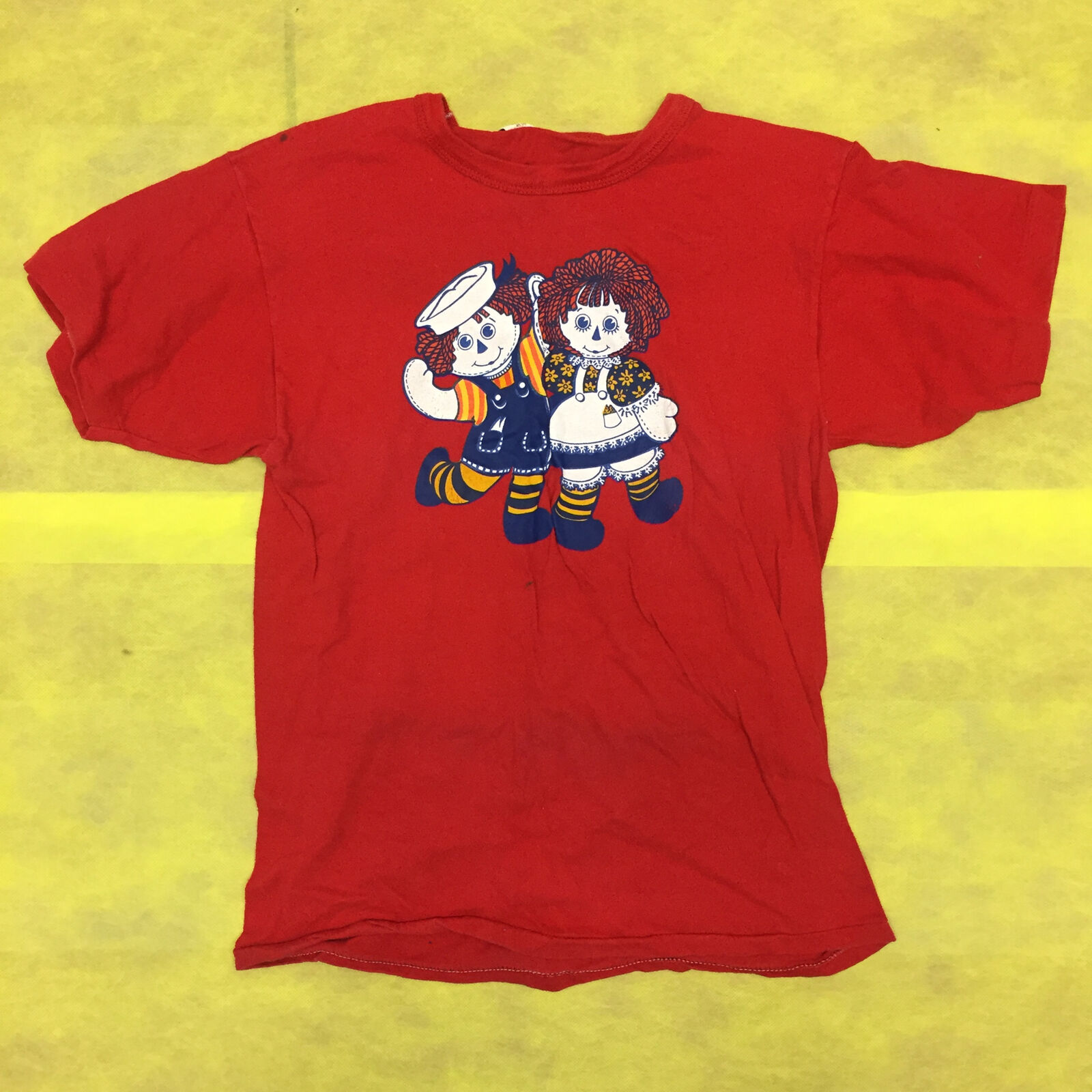 Russell Athletic Ragedy Ann Andy Doll 1970's damen Medium rot Vintage T Shirt