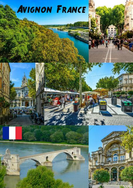 Avignon,France - Souvenir Nouveauté Aimant de Réfrigérateur,Sites / Drapeaux /