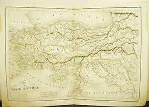 Shipping-of-Cyrus-Retirement-of-10000-Card-Antique-1838-Ancient-Map-45cm-38cm
