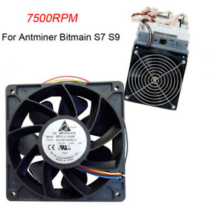 7500RPM-Cooling-Fan-Replacement-4-pin-Connector-For-Antminer-Bitmain-S7-S9-Black