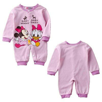 Baby Girls Minnie Mouse /& Daisy Pajamas Size 12 Months