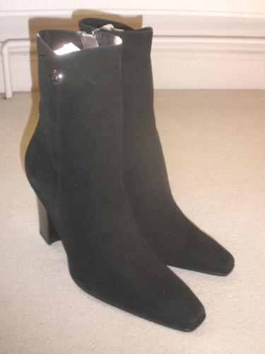 Donna Donna Scarpe neri pelle 8 Tacchi scamosciata 7 Stivali in Taglia qataT