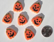 Halloween Pumpkins Resin Flatbacks hair bow embellishments scrapbooking glue on
