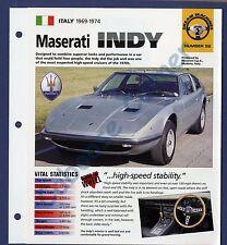 Maserati Indy IMP Brochure Specs 1969-1974 Group 2, No 52