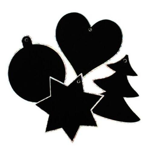 Kratzbild-Anhänger Weihnachten Geschenkanhänger Geschenk Stern Herz Baum Kugel