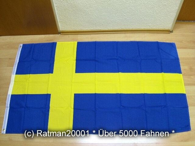 Fahne Flagge Deutsch Schweden Freundschaft 90 x 150 cm