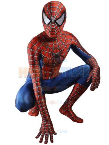 Classic Raimi Spiderman Halloween Cosplay Costumes Zentai Suit 3D Digital Print