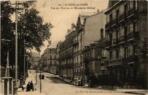 CPA-Luxeuil-les-Bains-Rue-des-Thermes-et-Modern-Hotel-636753