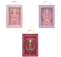 Disney Store Costume Accessory Set Jewelry Princess Necklace Hair Clips