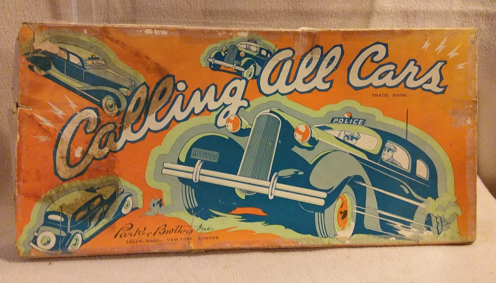 Calling All Cars  by Parker Brothers Inc. 1st Edition 1936 Very Rare