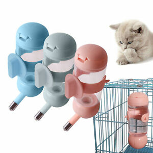 Puppy Water Cup Dog Feeder Dispenser Cage Hanging Pet Drinking Bottle DEL