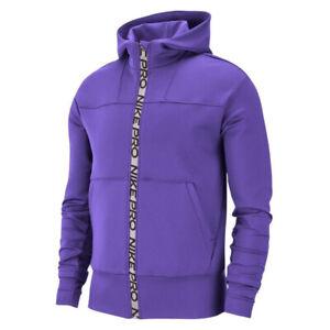 Details about Nike Womens Pro Fleece Hoodie Purple Solid Full Zip Active Wear BV4038 550