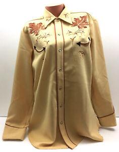 Vtg-H-Bar-C-Ranchwear-Shirt-Pearl-Snap-Western-Wear-Embroidered-Mapleton-Sz-16-5