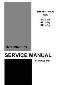 Details about IH Cub Cadet Model's 154-184-185 Service Manual
