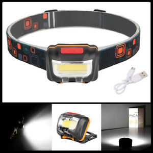 COB-LED-DualSwitch-Induction-Headlamp-USB-Rechargeable-Headlight-Head-Torch-Lamp