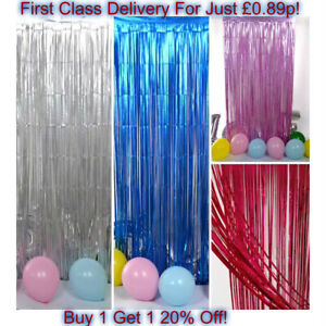 2M-3M-Foil-Fringe-Tinsel-Shimmer-Curtain-Door-Wedding-Birthday-Party-DECORATIONS