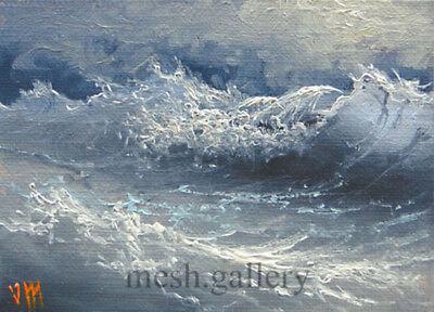 "179-5/""x 7/"" CANVAS FINE ART PRINT MUSEUM SEASCAPE Mediterranean Sea Storm MESH"