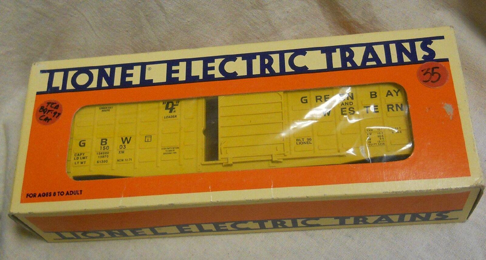O Gauge  O O27 Lionel 6-15003  Green Bay & Western Waffle-Sided Boxcar, 1996