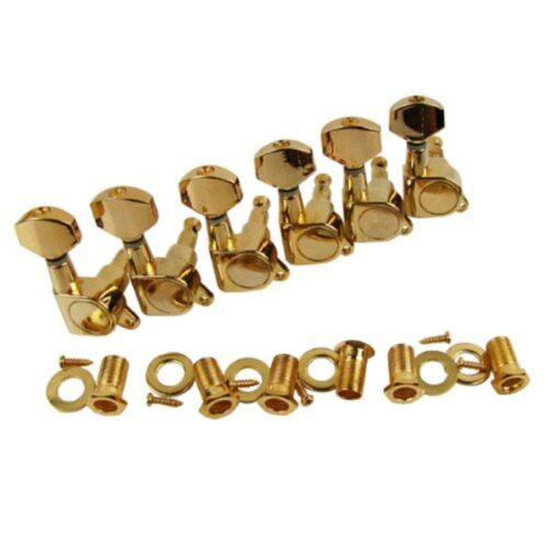 Tuning Pegs 6-in-line Sealed Electric Guitar String Keys Machine Head Tuners Set