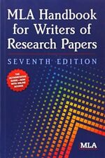 MLA Handbook for Writers of Research Papers by Joseph Gibaldi and Modern Language Association of America Staff (2009, Paperback, New Edition)