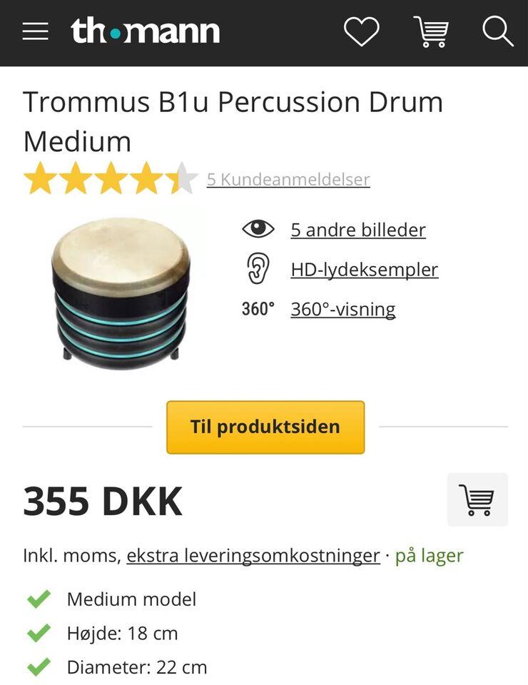 Andet, Lille Tromme. trommes B1