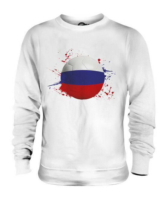 RUSSIA FOOTBALL UNISEX SWEATER  TOP GIFT WORLD CUP SPORT