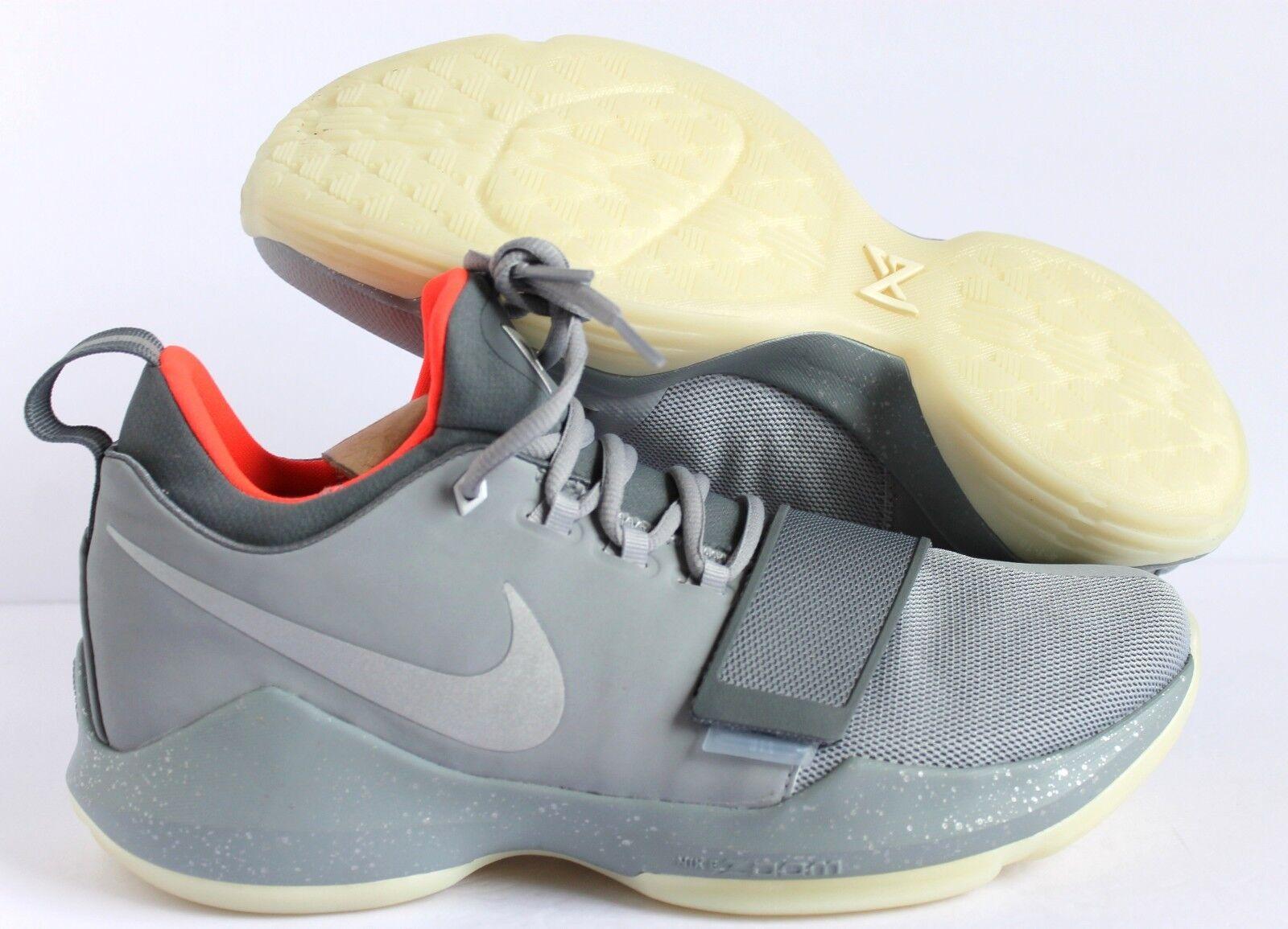 Nike PG 1 Paul George ID Gray-Crimson  SZ 10.5 [AA1747-991]