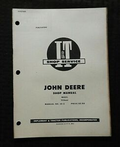 1956 JOHN DEERE MODEL 70 DIESEL TRACTOR I&T SERVICE SHOP REPAIR MANUAL