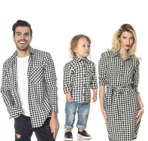 f2b4c7746 Image is loading Family-Matching-Father-Mother-Daughter-Son-Long-Sleeve-