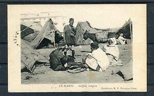 Marokko-AK-Coiffeur-Indigene-mit-Zensurstempel-Casablanca-Hannover-b2466