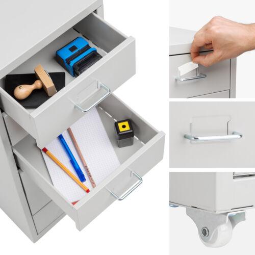 Rollcontainer Metallschrank Schubladenschrank Büro Rollschrank Materialschrank