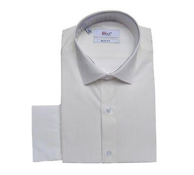 Liberal Slim-fit Herren Hemd Mit Einstecktuch 39/40 Gr.m Creme Ivory