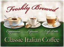 Coffee, Cappuccino, Espresso, Latte, Cafe or Restaurant, Novelty Fridge Magnet