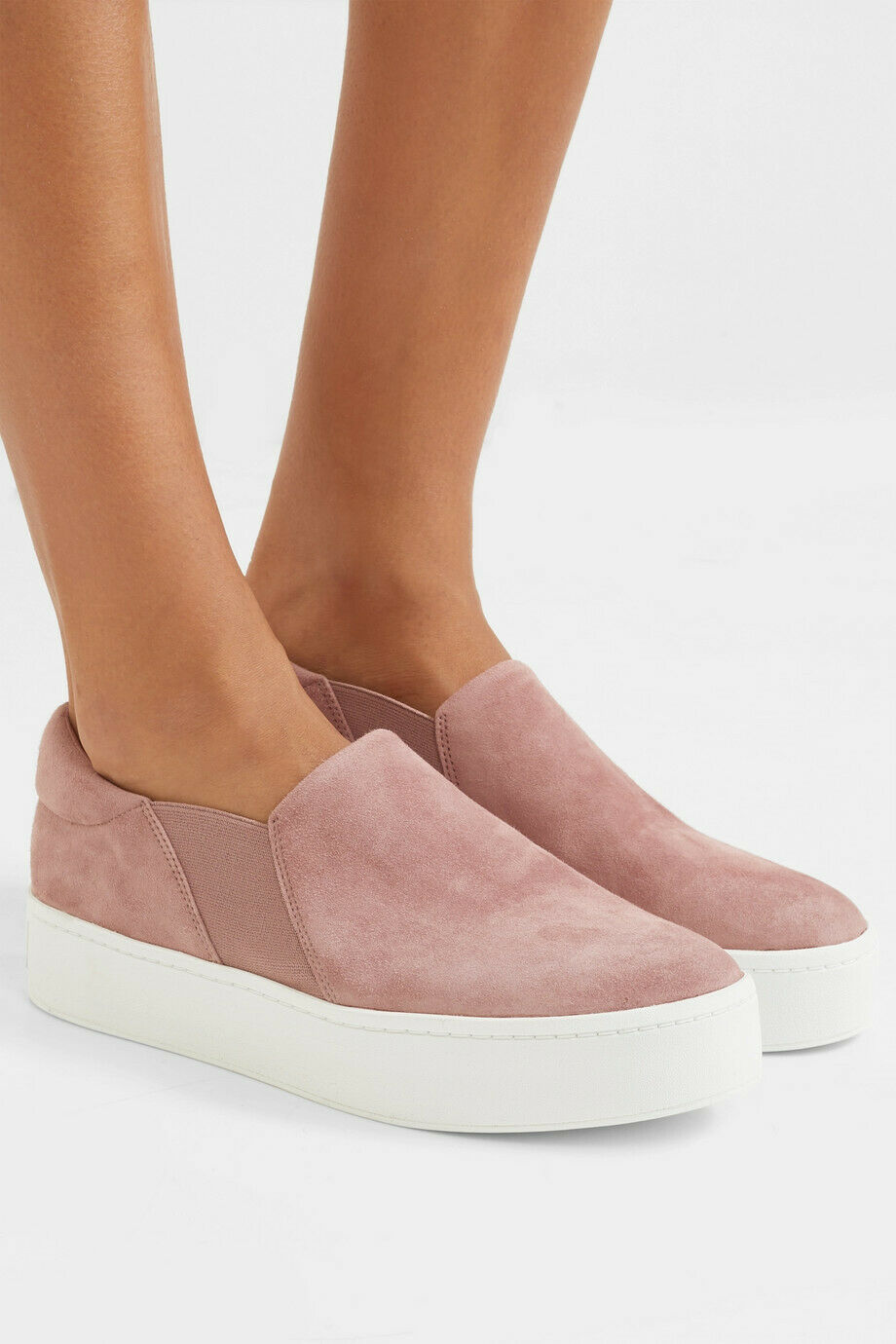 NIB Vince Warren Suede Slip On scarpe scarpe scarpe da ginnastica, Hydrangea As seen on Jessica Alba  225 92b471