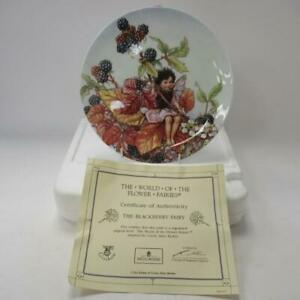 Wedgwood-Bone-Chine-Collectors-Plate-The-Blackberry-Fairy-from-034-Flower-Fairies-034