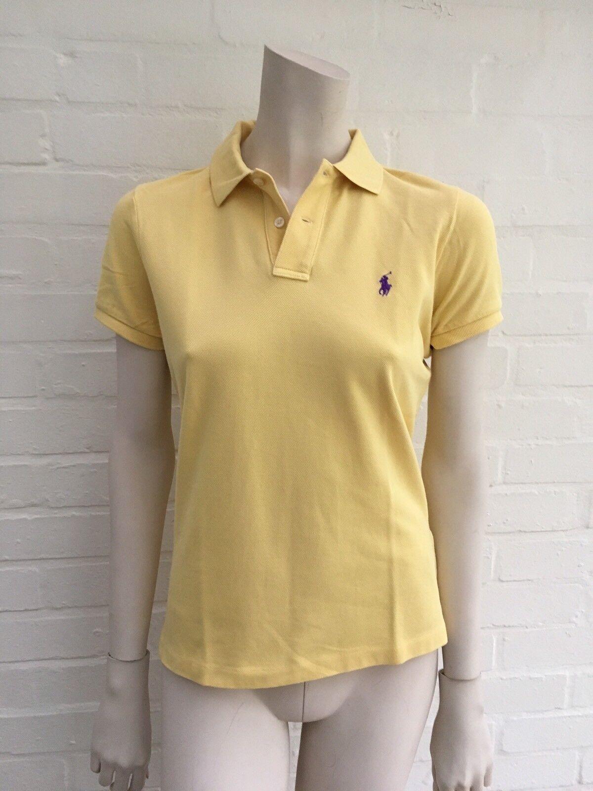Ralph Lauren Polo The Skinny Polo Yellow T-shirt Top Size M medium