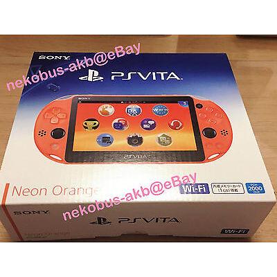 [Brand New] PS Vita Wi-Fi Console [Neon Orange] [PCH-2000 ZA24] [Japan] PSV