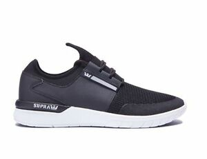 dee276f44610 Image is loading Supra-Flow-Run-Trainer-Sneaker-Black-Black-White-