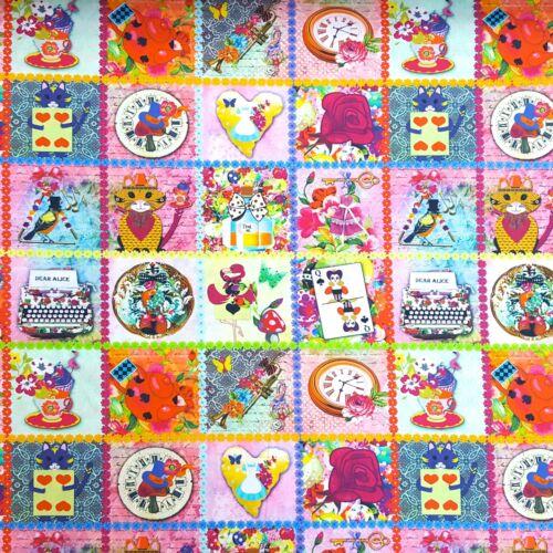 100/% Baumwolle Popeline Stoffe Druck Poplin Deko Bekleidung Patchwork 2880//001