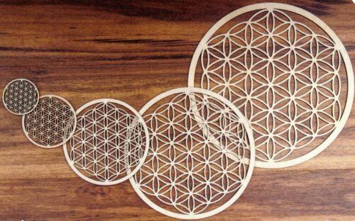 Wandschmuck natur verschiedene Durchmesser Blume des Lebens aus Birkenholz