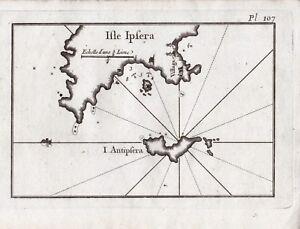 Carte-XVIIIe-Geographique-Ile-Psara-Grece-Ile-Antispara-1764