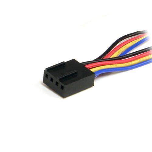 """12/"""" StarTech FAN4SPLIT12 12in 4 Pin Cooling Fan Power Splitter Cable"""
