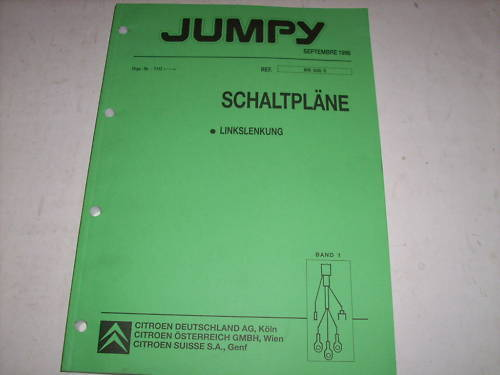 Workshop Manual Citroen Jumpy Electricity Wiring Diagrams