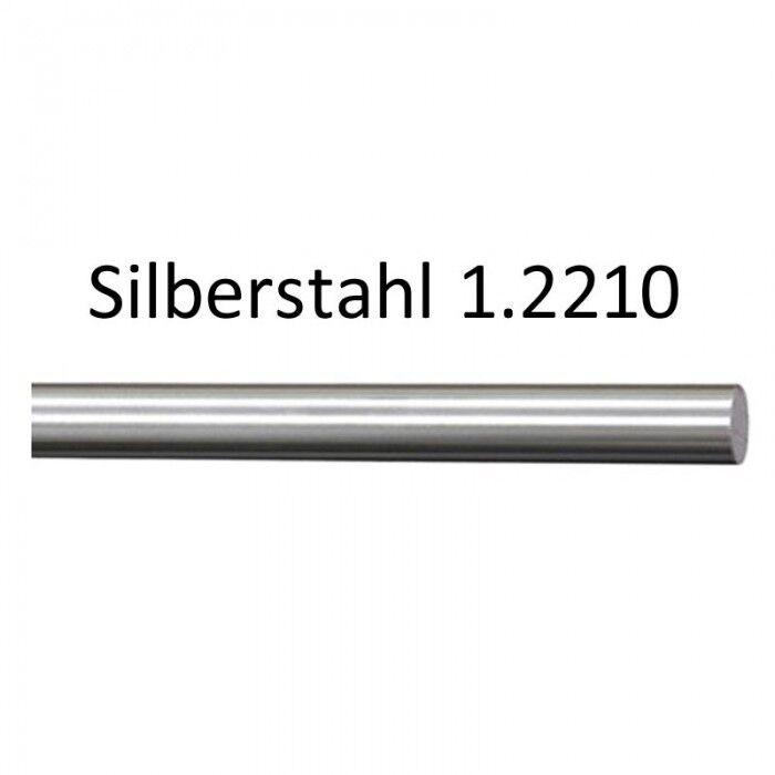 Ø 2mm x 245mm Vollmaterial Rundstab Silberstahl 1.2210 9383 115 CrV 3