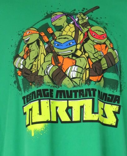Teenage Mutant Ninja Turtles Officially Licensed Boys T-Shirt Green L Free Ship
