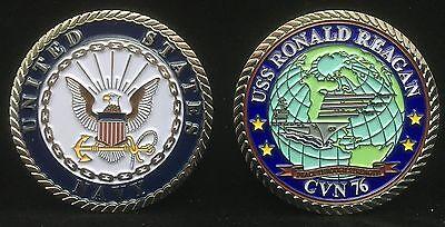 Uss Ronald Reagan Cvn 76 Enlisted Challenge Coin Ebay