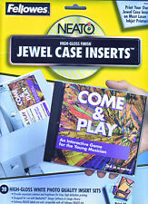 Fellowes Neato Standard Jewel Case Inserts Partially Used Lot 99947 Open Box