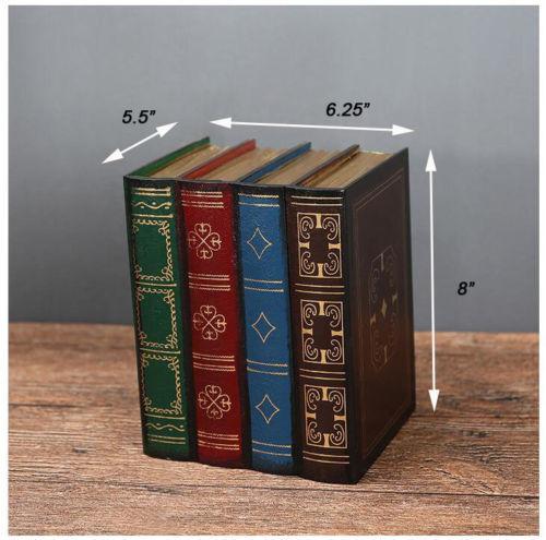 Retro Vintage Decorative Fake Book Hiddien Secret Storage Box Book Shelf Decor